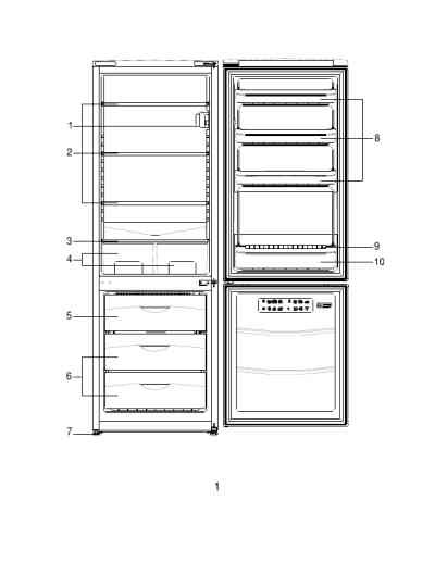 BEKO CS27CAW Refrigerator/ freezer combination download