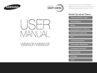 SAMSUNG WB855F The camera/ Camera download manual for free