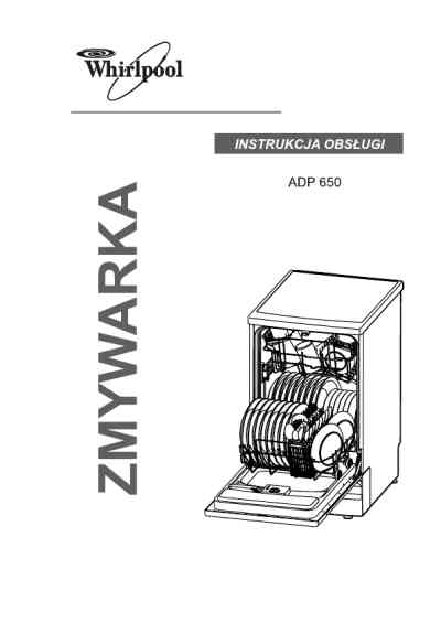 WHIRLPOOL ADP 650 WH Dishwasher download manual for free