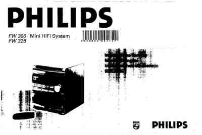 PHILIPS FW326 HiFi system download manual for free now