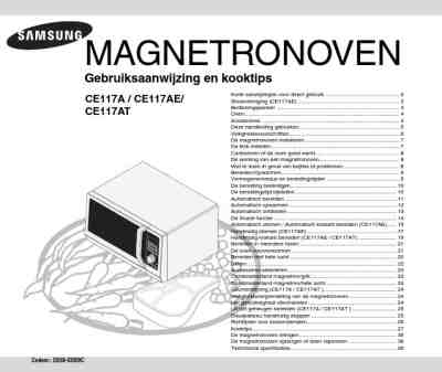 SAMSUNG CE 117 AE S Microwave oven download manual for