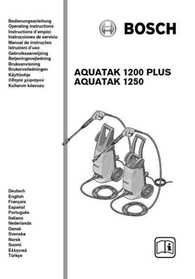 BOSCH AQUATAK 1200 PLUS Tools download manual for free now