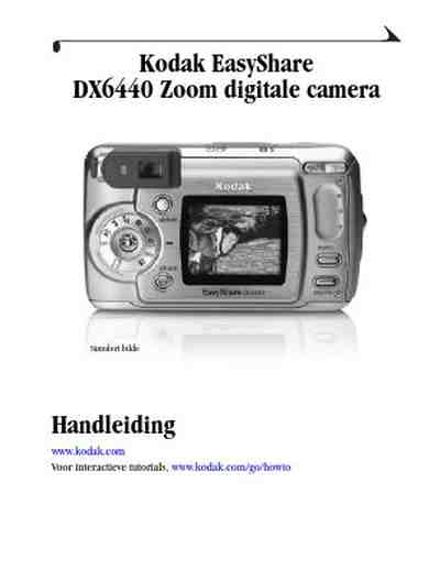KODAK DX 6440 EASYSHARE The camera/ Camera download manual