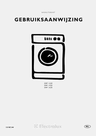 ELECTROLUX EWF 1620 Washing machine download manual for