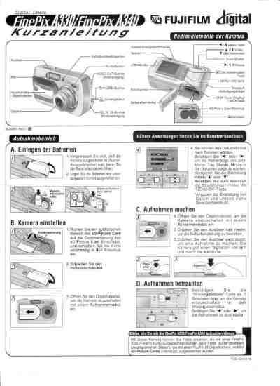 FUJIFILM A330 The camera/ Camera download manual for free