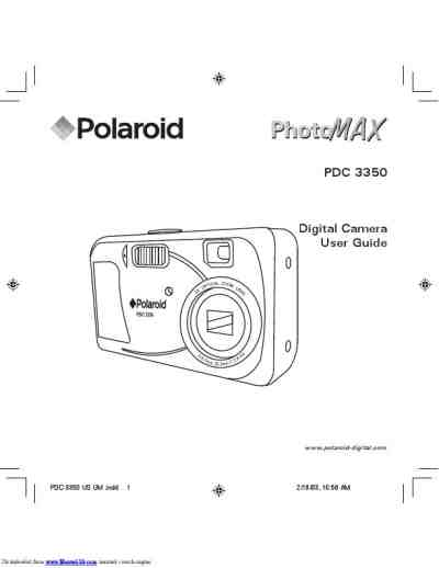 POLAROID PDC 3350 The camera/ Camera download manual for