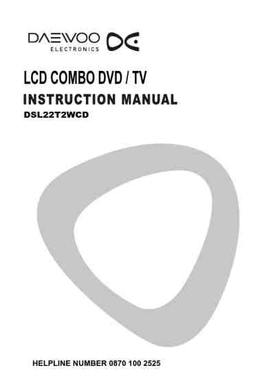 DAEWOO DSL22T2WCD TV/ Television download manual for free
