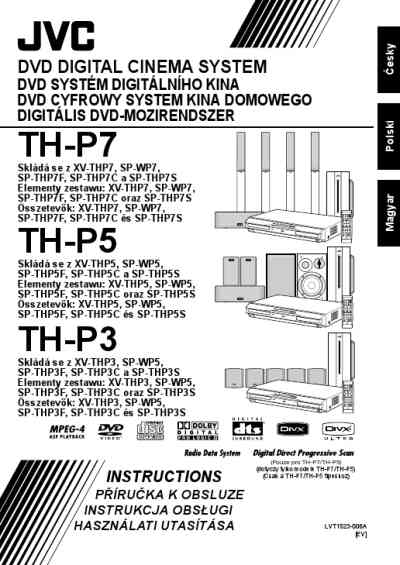 JVC TH-P7 Home theater download manual for free now