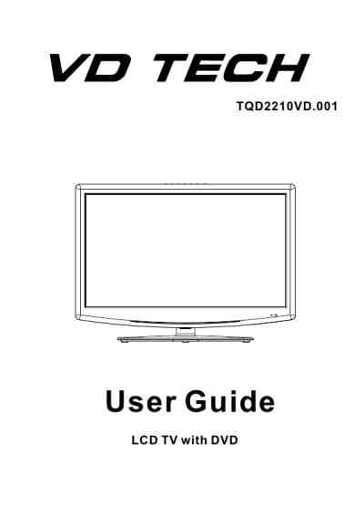 VD TECH TQD2210VD TV/ Television download manual for free