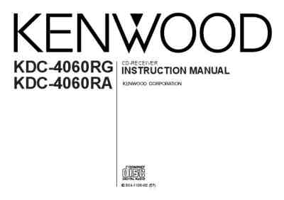 KENWOOD KDC 4060 R A G Car radio download manual for free