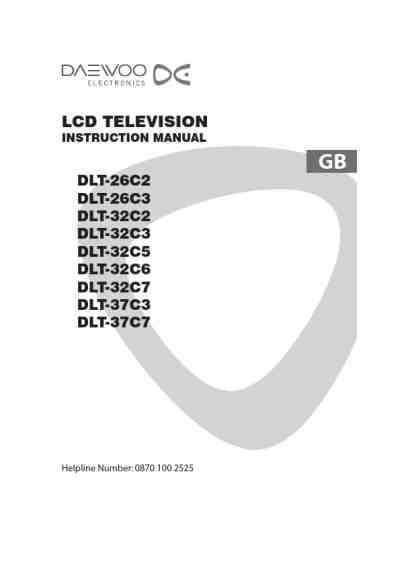 DAEWOO DLT-32C7 TV/ Television download manual for free