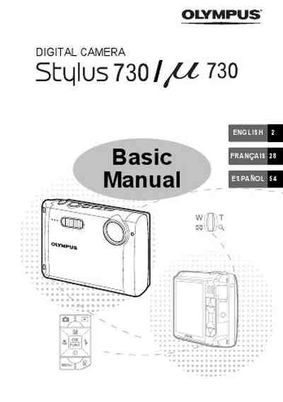 OLYMPUS MJU 730 BASIC MANUAL The camera/ Camera download