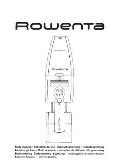 ROWENTA AC-355 Vacuum cleaner download manual for free now