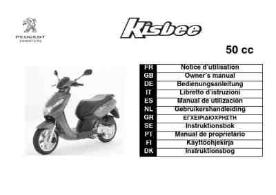 PEUGEOT KISBEE 50CC Vehicles download manual for free now