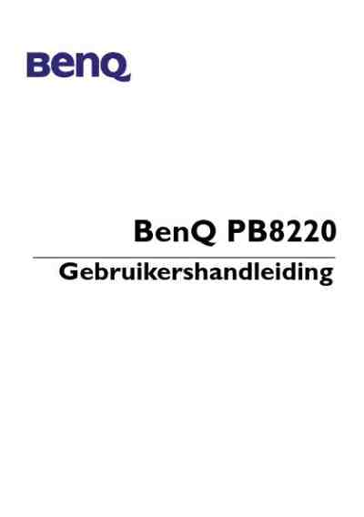 BENQ PB 8220 Projector download manual for free now