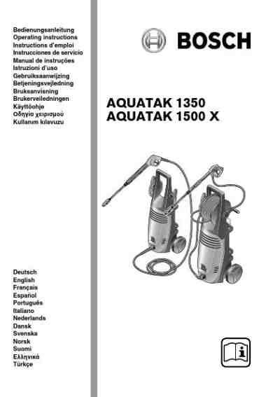Download Bosch Aquatak 1500 X User Manual free