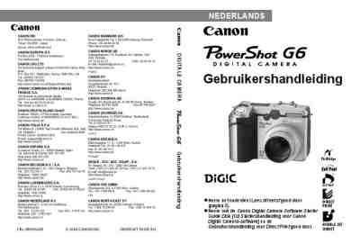 CANON POWERSHOT G6 The camera/ Camera download manual for