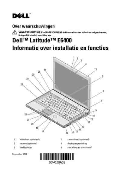 DELL LATITUDE E6400 ATG Notebook download manual for free