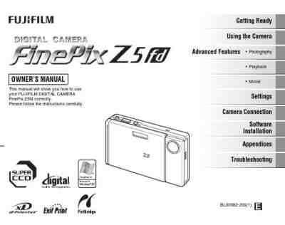 FUJI FINEPIX Z5FD The camera/ Camera download manual for