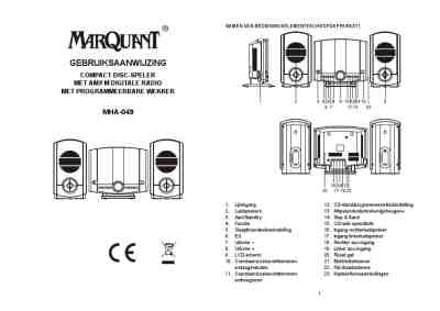 MARQUANT MHA-049 HiFi system download manual for free now