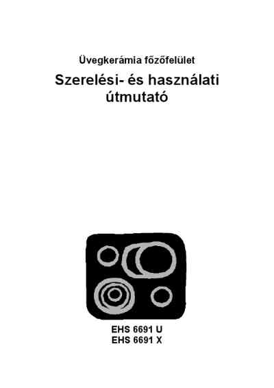 ELECTROLUX EHS6691X18A Cooker/ stove download manual for