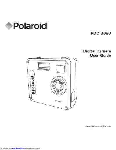 POLAROID PDC 3080 The camera/ Camera download manual for