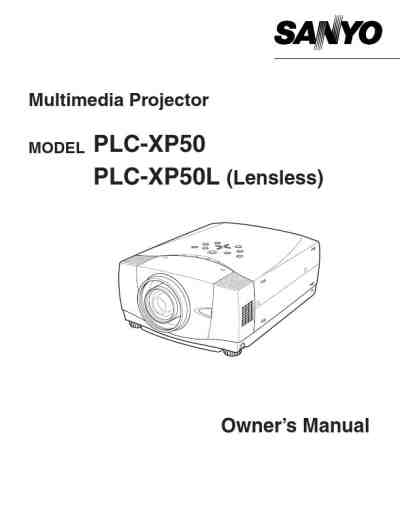 SANYO PLC XP50 Projector download manual for free now