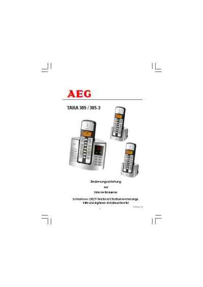 AEG TARA 305 Mobile phone download manual for free now