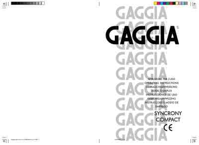 GAGGIA SYNCRONY COMPACT Coffee maker download manual for