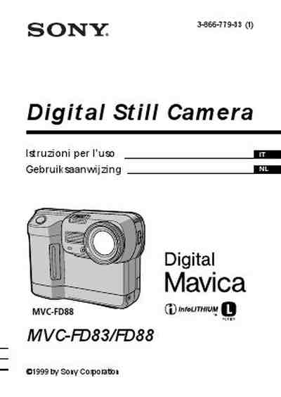 SONY MVC-FD83 MAVICA The camera/ Camera download manual