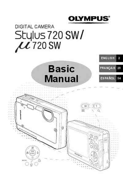 OLYMPUS STYLUS 720 SW The camera/ Camera download manual