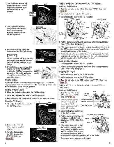 HONDA HONDA ENGINES GCV190 Vehicles download manual for