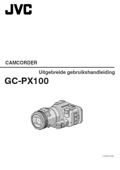JVC GC-PX100 Video Camera download manual for free now