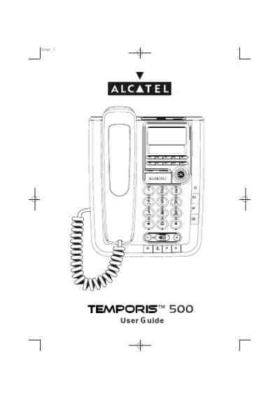 ALCATEL TEMPORIS 500 PRO Mobile phone download manual for