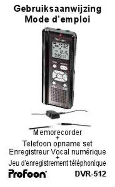 PROFOON DVR 512 Dictaphone / microphone download manual