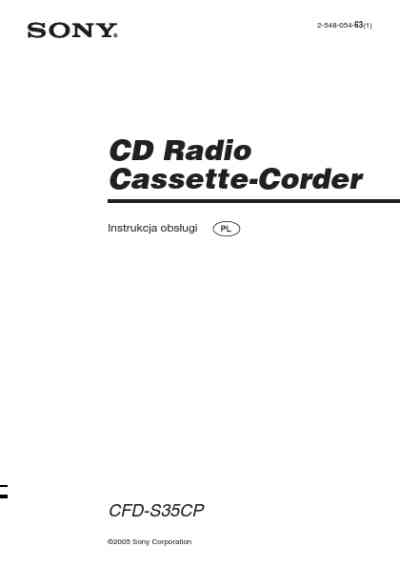SONY CFD-S35CP HiFi system download manual for free now