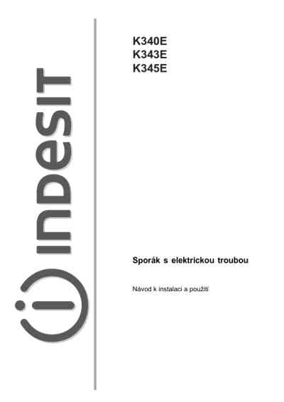 INDESIT K 345 E Cooker/ stove download manual for free now