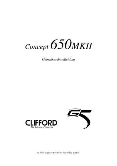 CLIFFORD CONCEPT 650 MKII others download manual for free
