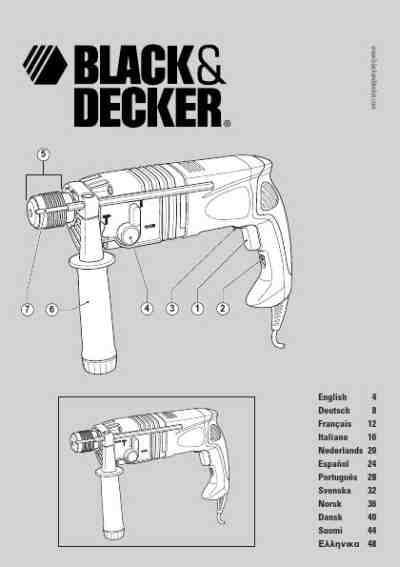 BLACK DECKER KD 980 KA Tools download manual for free now