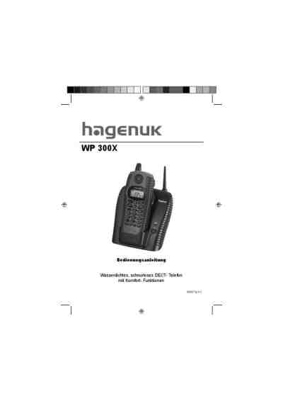 HAGENUK WP 300X Mobile phone download manual for free now