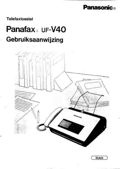 PANASONIC UF V 40 AG Fax download manual for free now