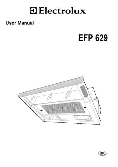 ELECTROLUX EFP629XA Cooker hood download manual for free