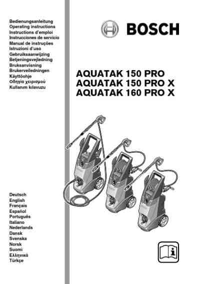 BOSCH AQUATAK 160 PRO X Tools download manual for free now