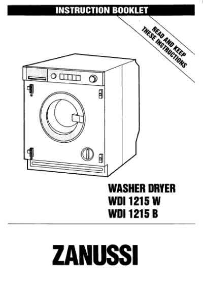 ZANUSSI WDI1215W Washer-dryer download manual for free now