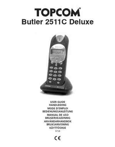 TOPCOM BUTLER 2511C DELUXE Mobile phone download manual