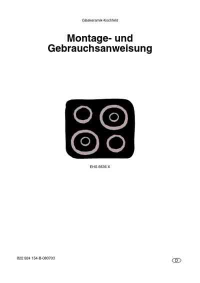 ELECTROLUX EHS6636X16A Oven download manual for free now