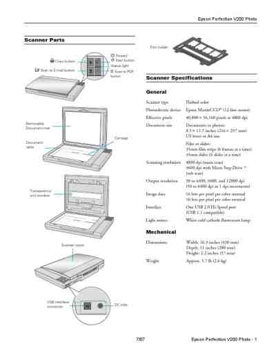 EPSON PERFECTION V200 PHOTO Scanner download manual for
