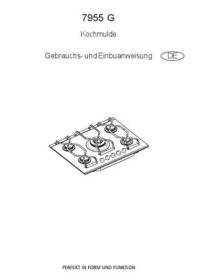 AEG-ELECTROLUX 7955GM Hob download manual for free now