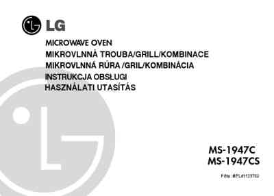 LG MS 1947CS Microwave oven download manual for free now