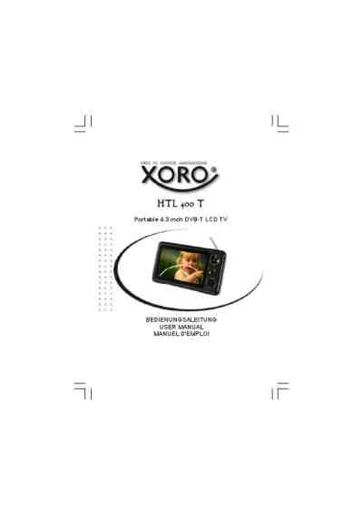 XORO HTL 400 T DVD/ Blu-ray player download manual for